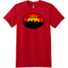 Cincinnati Ohio Skyline Distressed T Shirt Deep Red Hanes Nano 4980 Ringspun Cotton T Shirt
