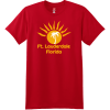 Ft Lauderdale Sunshine Palm Tree T Shirt Deep Red Hanes Nano 4980 Ringspun Cotton T Shirt