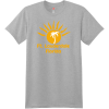 Ft Lauderdale Sunshine Palm Tree T Shirt Light Steel Hanes Nano 4980 Ringspun Cotton T Shirt
