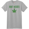 Highly Medicated Weed T Shirt Light Steel Hanes Nano 4980 Ringspun Cotton T Shirt