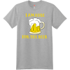 I Am Here For The Beer T Shirt Light Steel Hanes Nano 4980 Ringspun Cotton T Shirt