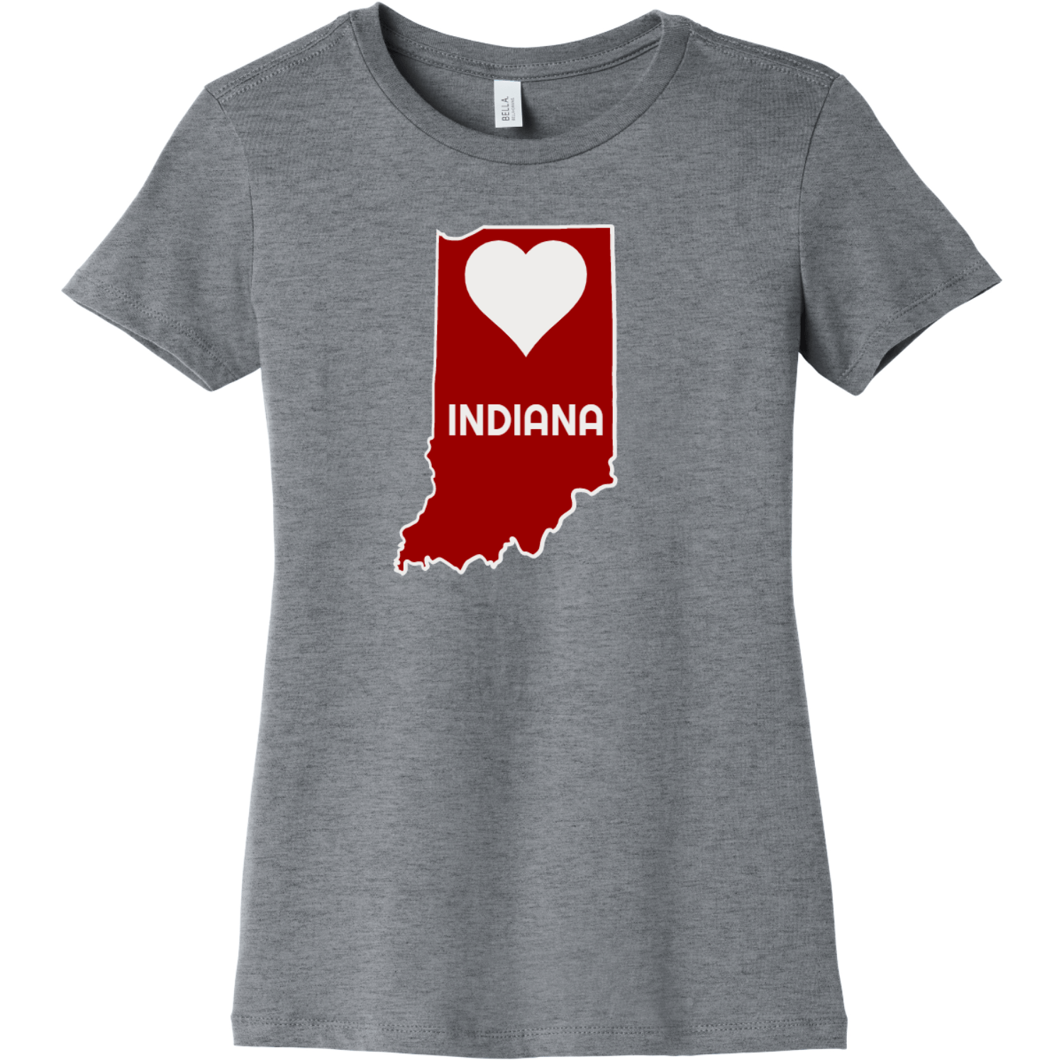 Indiana Heart State T Shirt For Women Athletic Heather Bella Canvas 6004 Ladies The Favorite Tee