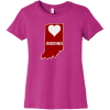 Indiana Heart State T Shirt For Women Berry Bella Canvas 6004 Ladies The Favorite Tee