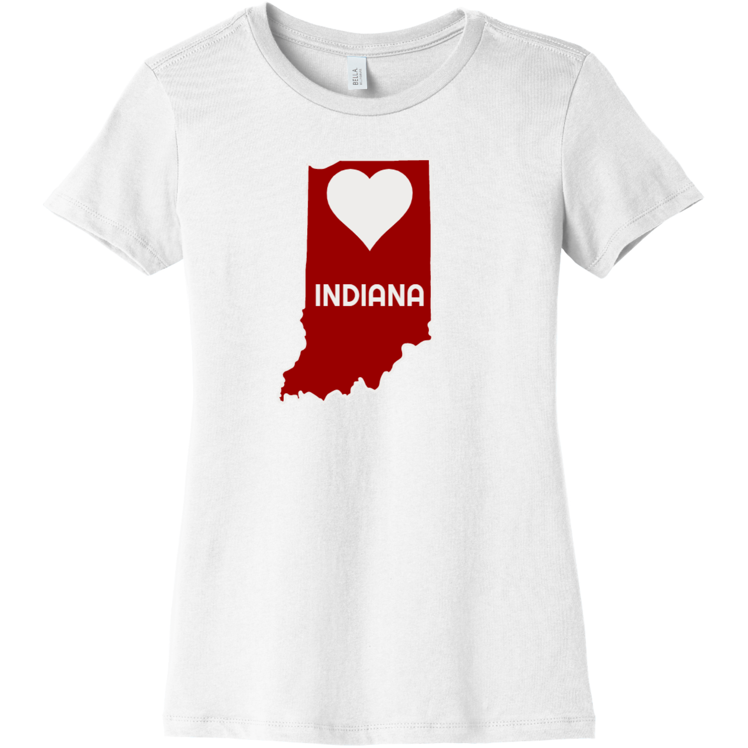 Indiana Heart State T Shirt For Women White Bella Canvas 6004 Ladies The Favorite Tee