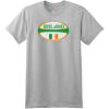 Ireland Rugby Ball T Shirt Ash Hanes Nano 4980 Ringspun Cotton T Shirt
