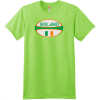 Ireland Rugby Ball T Shirt Lime Hanes Nano 4980 Ringspun Cotton T Shirt