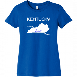 Kentucky Home Sweet Home T Shirt True Royal Bella Canvas 6004 Ladies The Favorite Tee