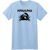 Maryland Crab State T Shirt Light Blue Hanes Nano 4980 Ringspun Cotton T Shirt