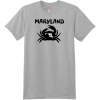 Maryland Crab State T Shirt Light Steel Hanes Nano 4980 Ringspun Cotton T Shirt