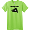 Maryland Crab State T Shirt Lime Hanes Nano 4980 Ringspun Cotton T Shirt