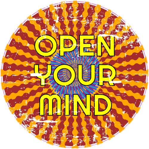 Open Your Mind Trippy Circle Sticker | U.S. Custom Stickers