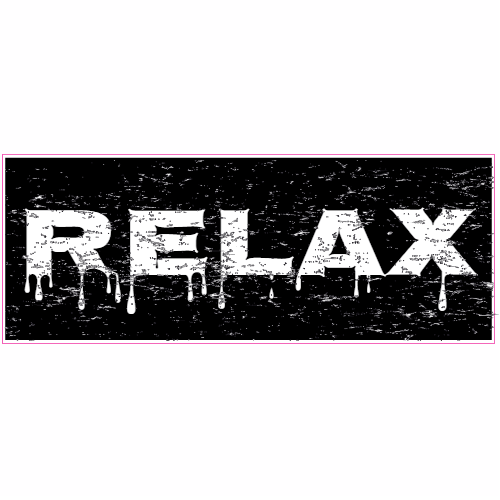 Relax Distressed Bumper Sticker | U.S. Custom Stickers