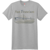 San Francisco Golden Gate Bridge T Shirt Light Steel Hanes Nano 4980 Ringspun Cotton T Shirt