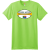 South Africa Rugby Ball T Shirt Lime Hanes Nano 4980 Ringspun Cotton T Shirt