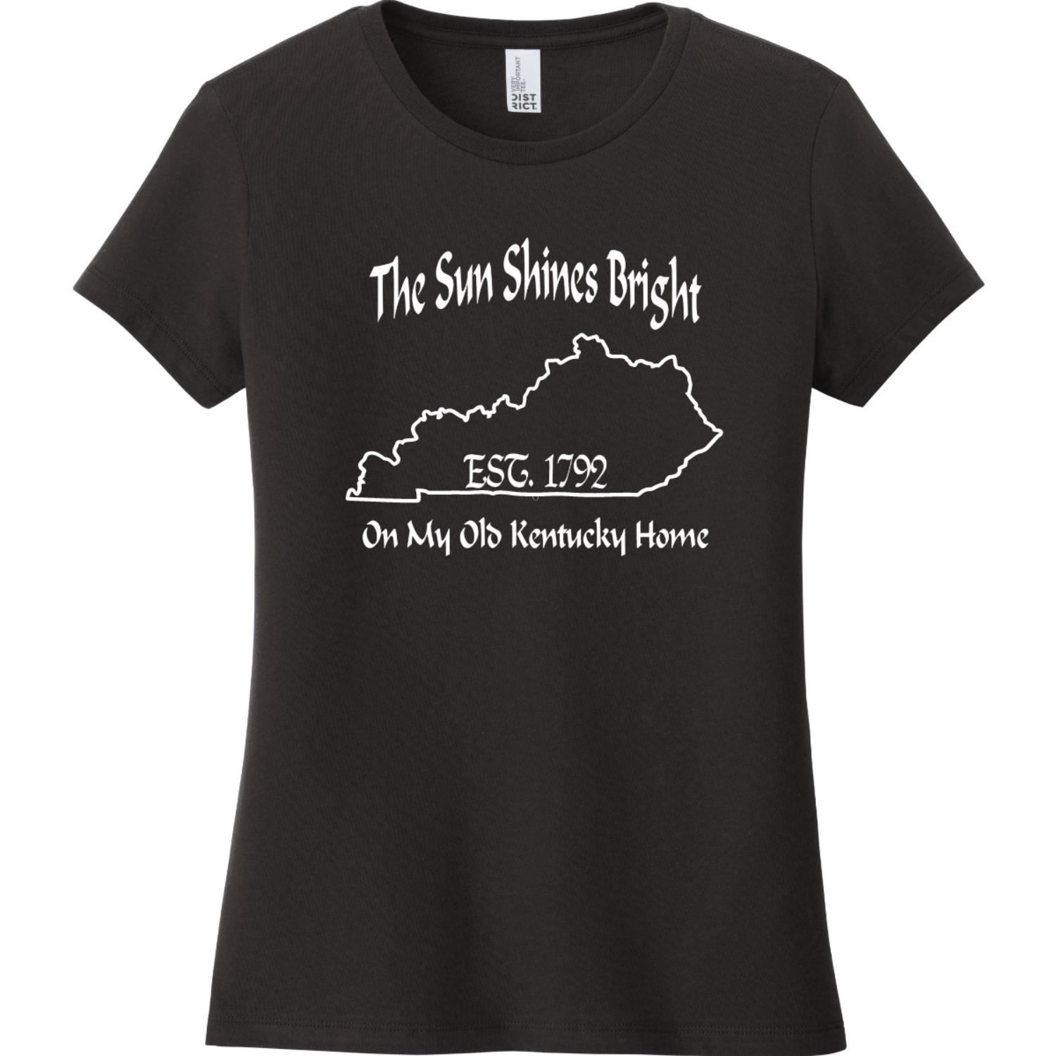 The Sun Shines Bright On My Old Kentucky Home T Shirt Black District Women's Very Important Tee DT6002