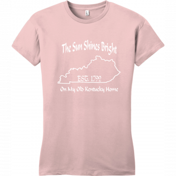 The Sun Shines Bright On My Old Kentucky Home T Shirt Dusty Lavender District Women's Very Important Tee DT6002