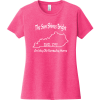 The Sun Shines Bright On My Old Kentucky Home T Shirt Fuchsia Frost District Women's Very Important Tee DT6002