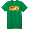 Utah Mountains Sunshine T Shirt Kelly Green Hanes Nano 4980 Ringspun Cotton T Shirt