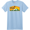 Utah Mountains Sunshine T Shirt Light Blue Hanes Nano 4980 Ringspun Cotton T Shirt