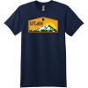 Utah Mountains Sunshine T Shirt Navy Hanes Nano 4980 Ringspun Cotton T Shirt