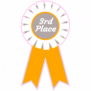 3rd Place Ribbon Sticker | U.S. Custom Stickers
