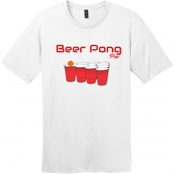 Beer Pong Pro T Shirt Bright White District Perfect Weight Tee DT104