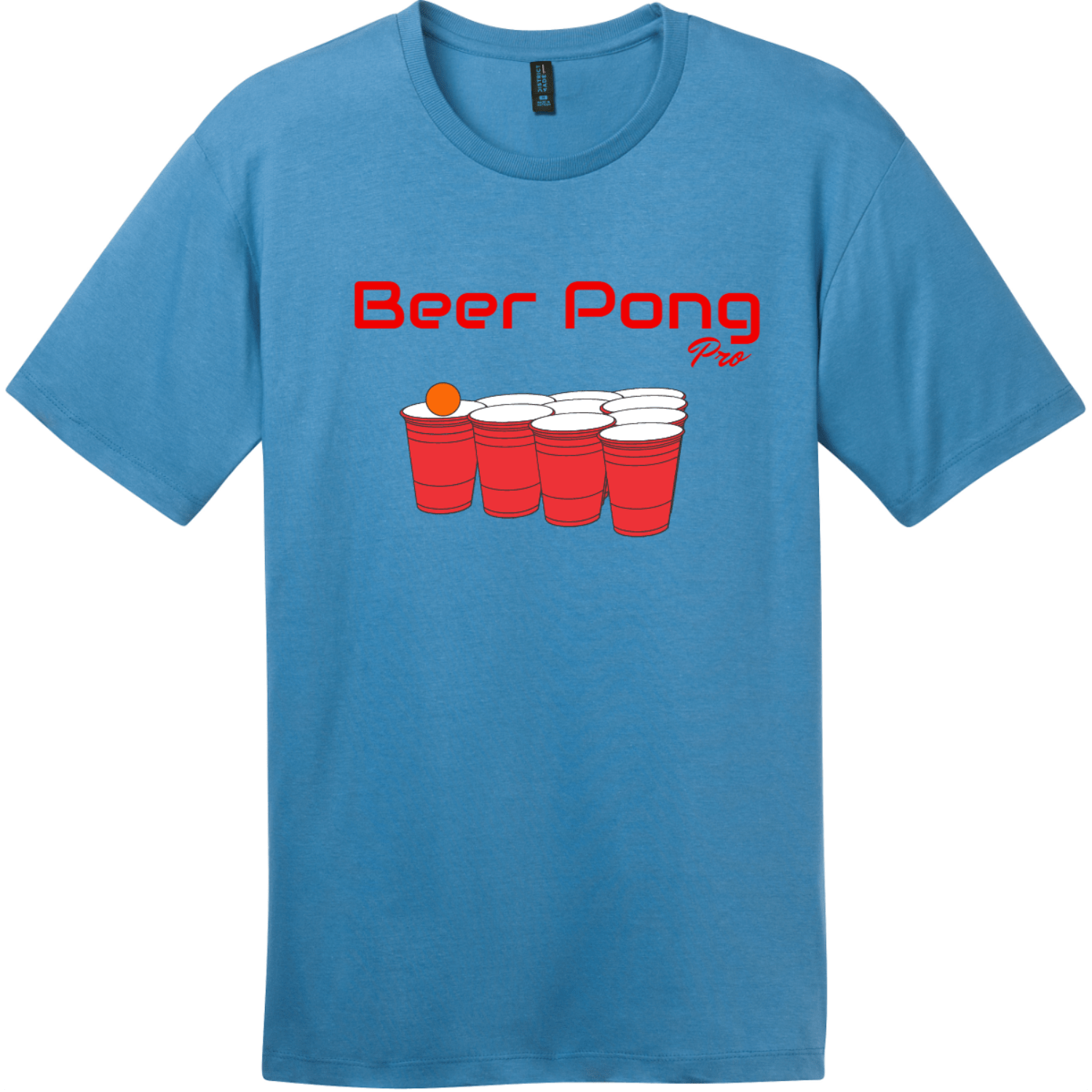 Beer Pong Pro T Shirt Clean Denim District Perfect Weight Tee DT104