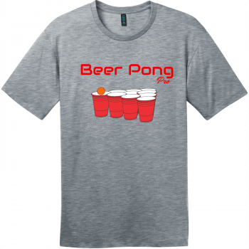 Beer Pong Pro T Shirt Heathered Steel District Perfect Weight Tee DT104