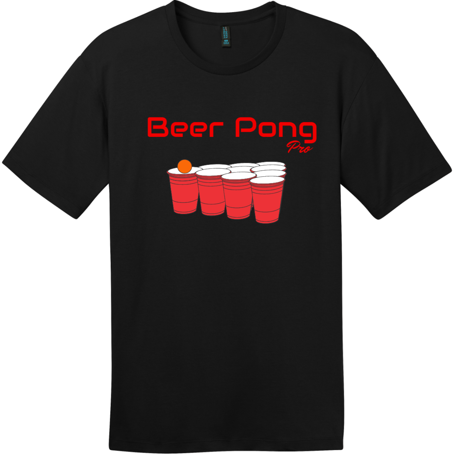 Beer Pong Pro T Shirt Jet Black District Perfect Weight Tee DT104
