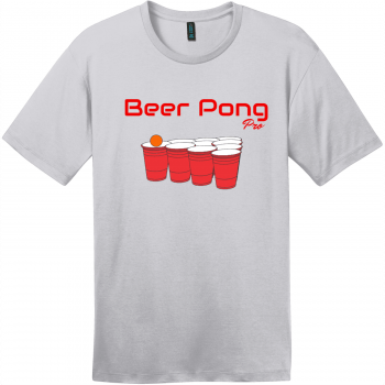 Beer Pong Pro T Shirt Silver District Perfect Weight Tee DT104