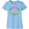 Clearwater Beach Florida T-Shirt Baby Blue Bella Canvas 6004 Ladies The Favorite Tee