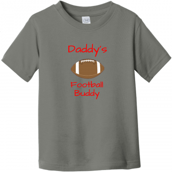 Daddy's Football Buddy Toddler T-Shirt Charcoal Rabbit Skins Toddler Fine Jersey Tee RS3321