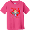 Daddy's Little Angel Toddler T-Shirt Hot Pink Rabbit Skins Toddler Fine Jersey Tee RS3321