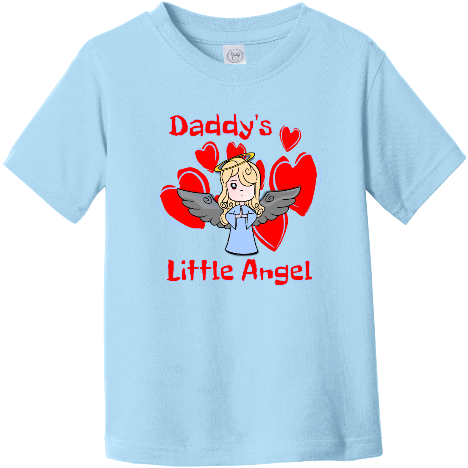 Daddy's Little Angel Toddler T-Shirt Light Blue Rabbit Skins Toddler Fine Jersey Tee RS3321