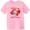 Daddy's Little Angel Toddler T-Shirt Pink Rabbit Skins Toddler Fine Jersey Tee RS3321