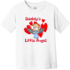 Daddy's Little Angel Toddler T-Shirt White Rabbit Skins Toddler Fine Jersey Tee RS3321