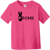 F Bomb Toddler T-Shirt Hot Pink Rabbit Skins Toddler Fine Jersey Tee RS3321