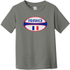 France Rugby Ball Toddler T-Shirt Charcoal Rabbit Skins Toddler Fine Jersey Tee RS3321
