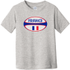 France Rugby Ball Toddler T-Shirt Heather Rabbit Skins Toddler Fine Jersey Tee RS3321