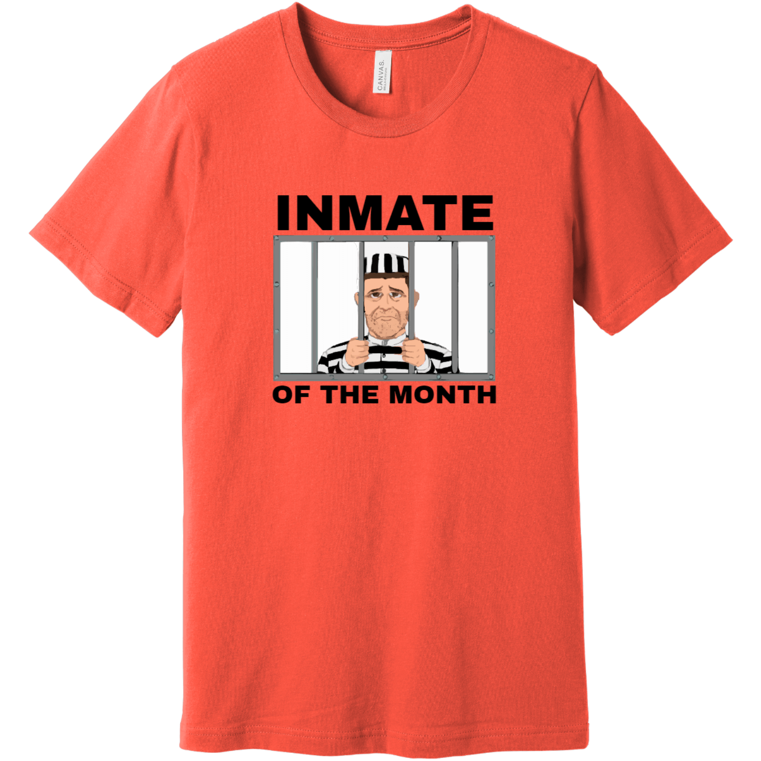 Inmate Of The Month Jail T-Shirt Coral Bella Canvas Unisex Tee BC3001