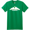 Killington Peak Vermont T-Shirt Kelly Green Hanes Nano 4980 Ringspun Cotton T Shirt