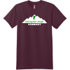 Killington Peak Vermont T-Shirt Maroon Hanes Nano 4980 Ringspun Cotton T Shirt