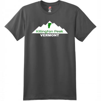 Killington Peak Vermont T-Shirt Smoke Gray Hanes Nano 4980 Ringspun Cotton T Shirt
