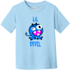 Lil Devil Monster Toddler T-Shirt Light Blue Rabbit Skins Toddler Fine Jersey Tee RS3321