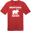 Montana Beer Deer Bear T-Shirt Classic Red District Perfect Weight Tee DT104