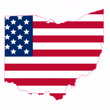 Ohio American Flag Sticker | U.S. Custom Stickers