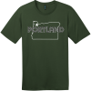 Portland Oregon State T-Shirt Thyme Green District Perfect Weight Tee DT104