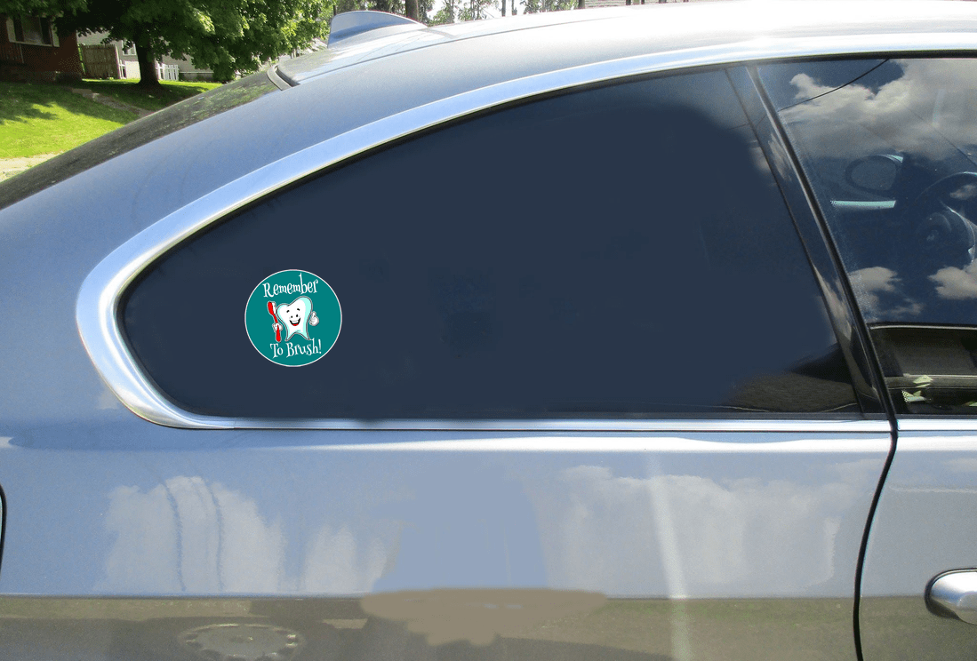Remember To Brush Your Teeth Sticker Car Sticker