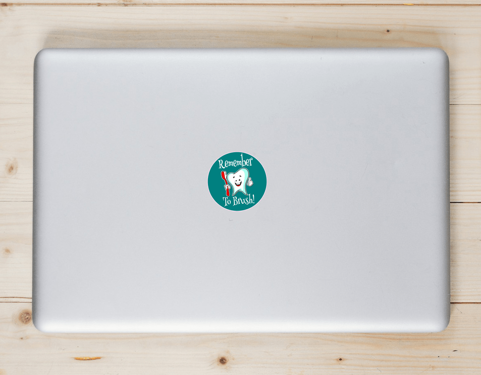 Remember To Brush Your Teeth Sticker Laptop Sticker