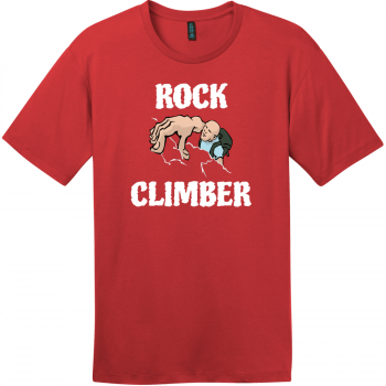 Rock Climber T-Shirt Classic Red District Perfect Weight Tee DT104